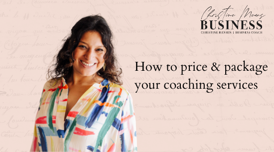 how to price and package your coaching services