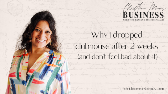 why i dropped out of clubouse blog