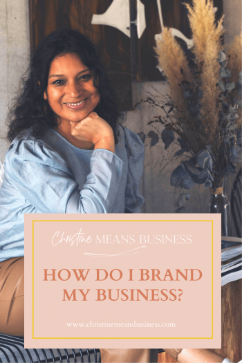 How do I brand my business?
