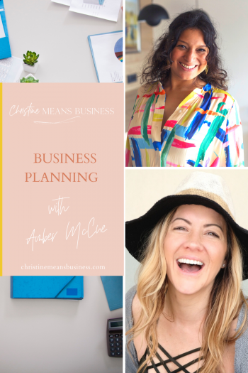 Business planning with Amber McCue