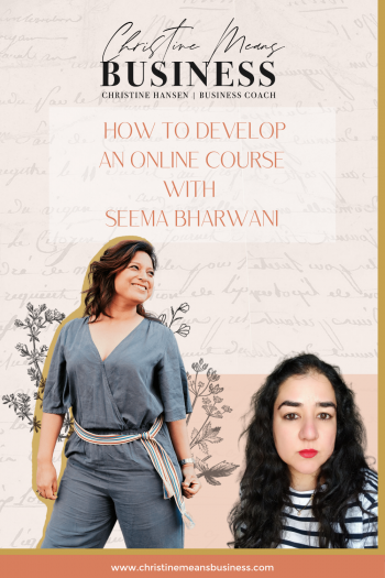 How to develop an online course with Seema Bharwani Pin