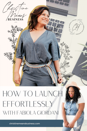 How to launch with Fabiola Giordani Pin