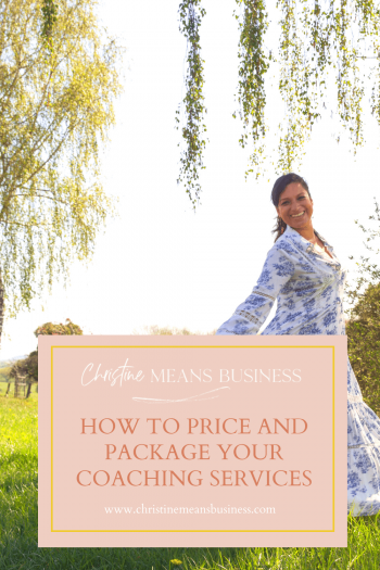 How to price and package your coaching services - the foundation