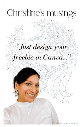 just design your freebie in canva pin