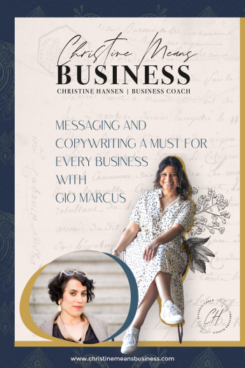 messaging and copywriting with Gio Marcus pin