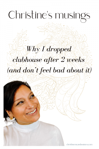 why I dropped out of clubhouse pin